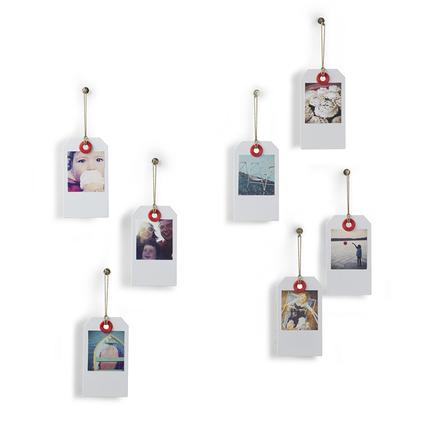 Marco de fotos Taggit metálico con forma de etiqueta (7 unidades)