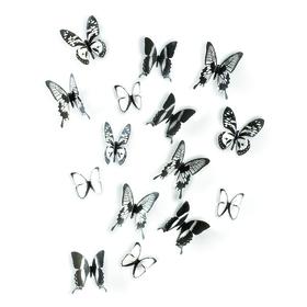 Mariposas adhesivas Chrysalis para la pared (15 unidades)