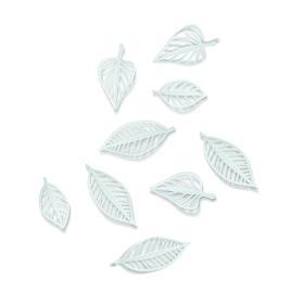 Hojas Natura adhesivas para la pared (9 unidades) de color blanco