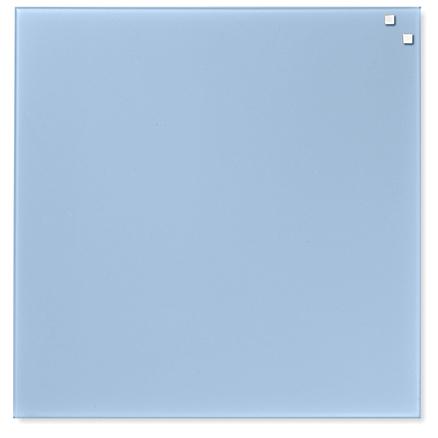 Pizarra Cristal Magnética Azul Claro 45X45