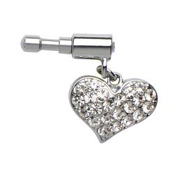Pin joya para iPhone y smartphone con forma de corazón con cristales