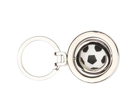 Llavero con forma de balón de futbol.
