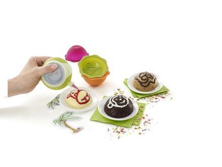 Deco minicake Set Jungle (6 moldes + 1 decopen)