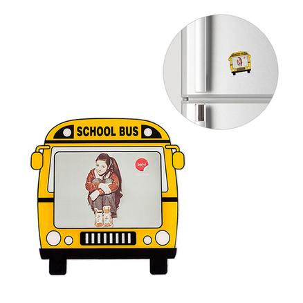 Marco de fotos School Bus para 1 foto 4.7x3.5 magnético