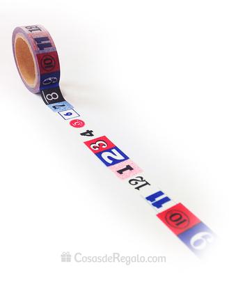 set de 3 rollos cinta adhesiva en forma de cinta métrica