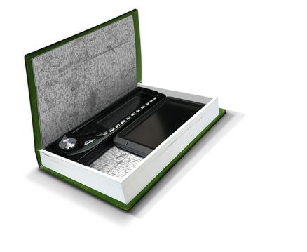 Caja secreta para el coche con forma de libro IN-CAR-NITO
