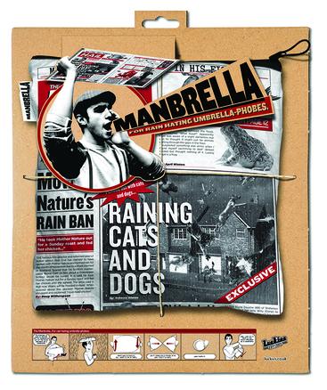 Paraguas papel periódico