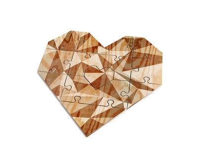 Puzzle corazón verde You complete me mint