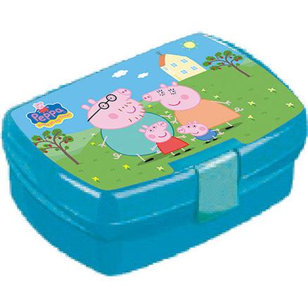 Portameriendas Peppa Pig Family con cantimplora y sandwichera