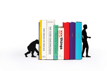 Sujeta libros Evolution Bookends