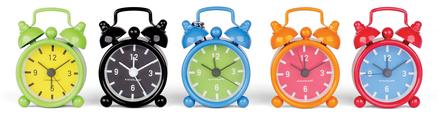 Llavero reloj alarma retro