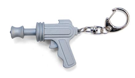Llavero pistola con sonido láser