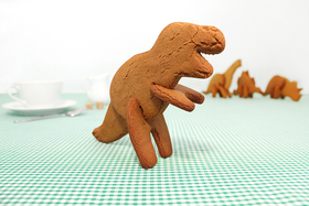 Dinosaurios molde cortador galletas