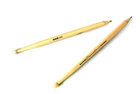 Lápiz con forma de baqueta o bastón batería