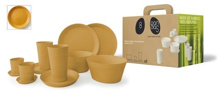 Conjunto de desayuno de bambú ecológico y biodegradable
