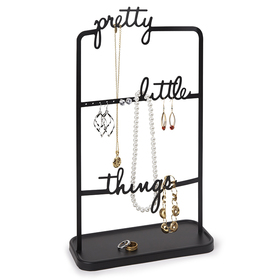 Soporte para joyas Pretty Little Things de color negro