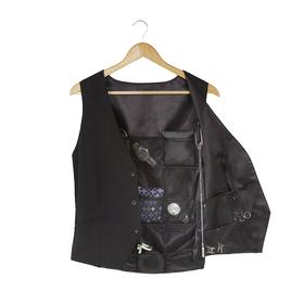 Organizador de accesorios para hombre con forma de chaleco negro