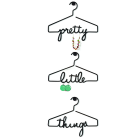 Colgador para joyas Pretty Little Things de color negro (3 unidades)