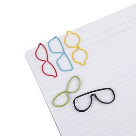 Clips de papel con forma de gafa (10 unidades)