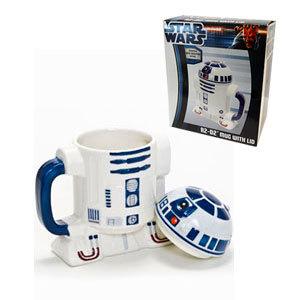 Taza mug Star wars 3D - R2D2 de ceramica con tapa