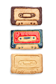 Cortador de galletas con forma de casete