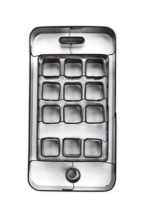 Cortador de galletas con forma de iPhone