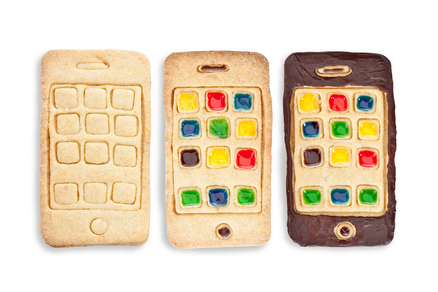 Cortador de galletas con forma de iPhone