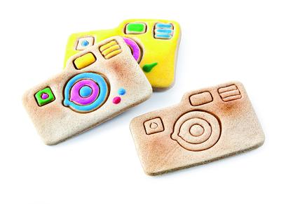 Cortador de galletas con forma de cámara de fotos