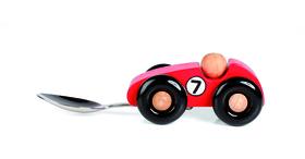 Cuchara para niños coche de carreras