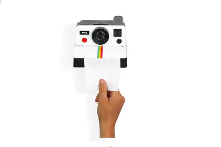 Polaroll soporte para papel WC con forma de cámara polaroid