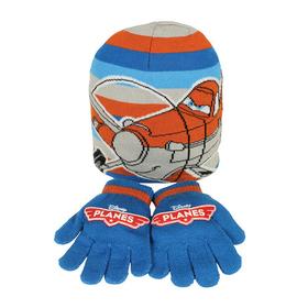Set gorro guantes Aviones Planes Disney jacquard