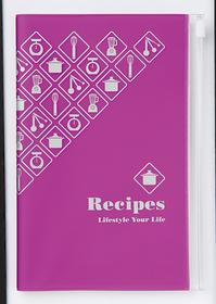 Libreta de bolsillo para recetas de color lila