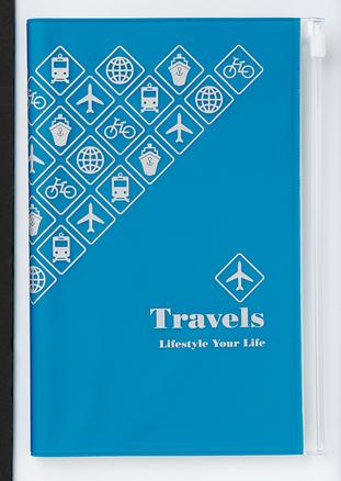 Libreta de bolsillo para viajes de color azul