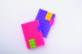 Libreta A6 bloques de construcción de silicona