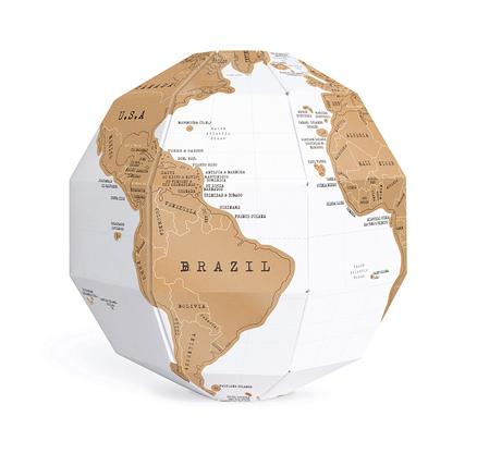 Globo terraqueo mapa de rascar