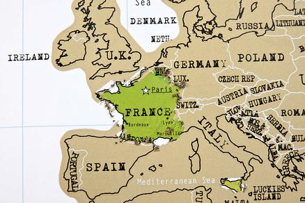Mapa mundo de rascar (scratch map)