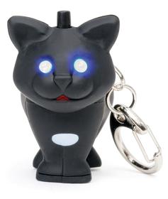 Llavero en forma de gato con sonido y luz