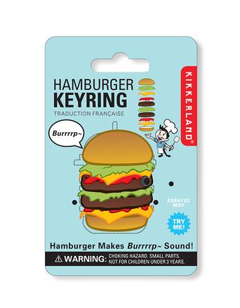 Llavero en forma de hamburguesa con sonido