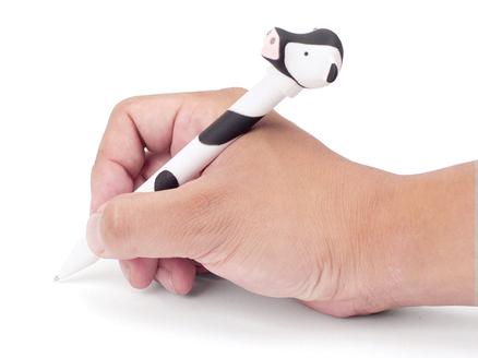 Bolígrafo en forma de vaca con luz y sonido