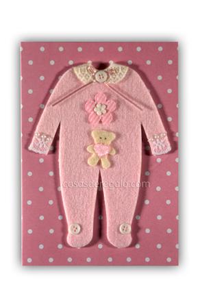Felicitación de nacimiento artesanas niña