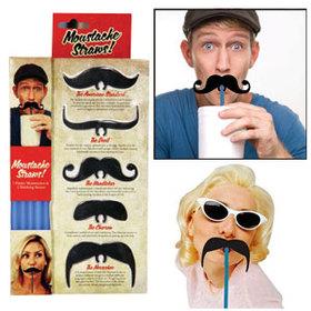 Pajitas en forma de bigotes