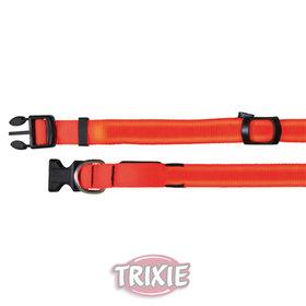 Collar flash 25 mm de color naranja