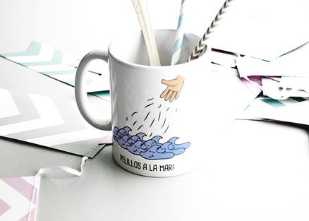 Taza original Pelillos a la mar