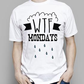 Camiseta original WTF Mondays para hombre