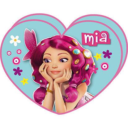 Cojín Mia and Me con forma de Corazón con Unchao