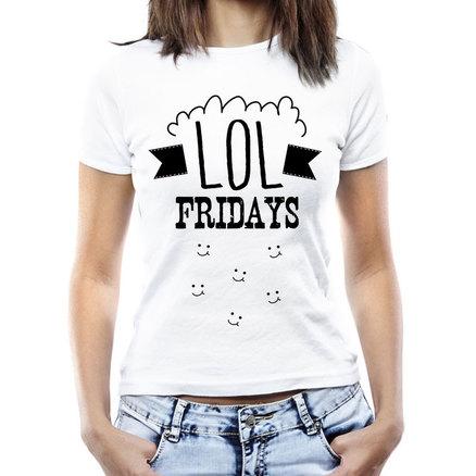 Camiseta original LOL Fridays para mujer