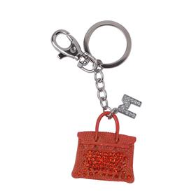 Llavero en forma de bolso rojo