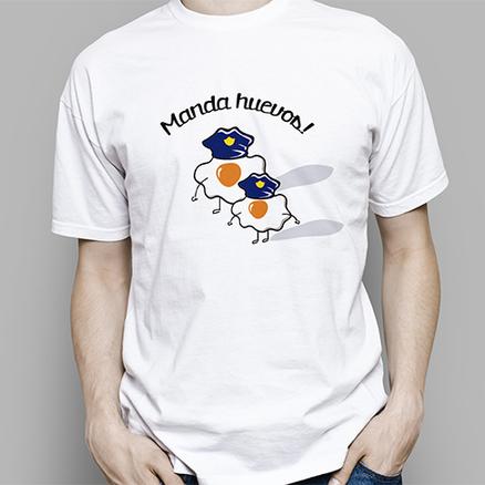 Camiseta original Manda huevos para hombre
