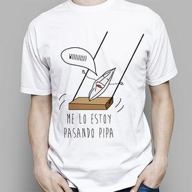 Camiseta original Me lo paso pipa para hombre