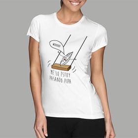 Camiseta original Me lo paso pipa para mujer